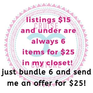Want more? 6 for $25! All listings $15 and under!
